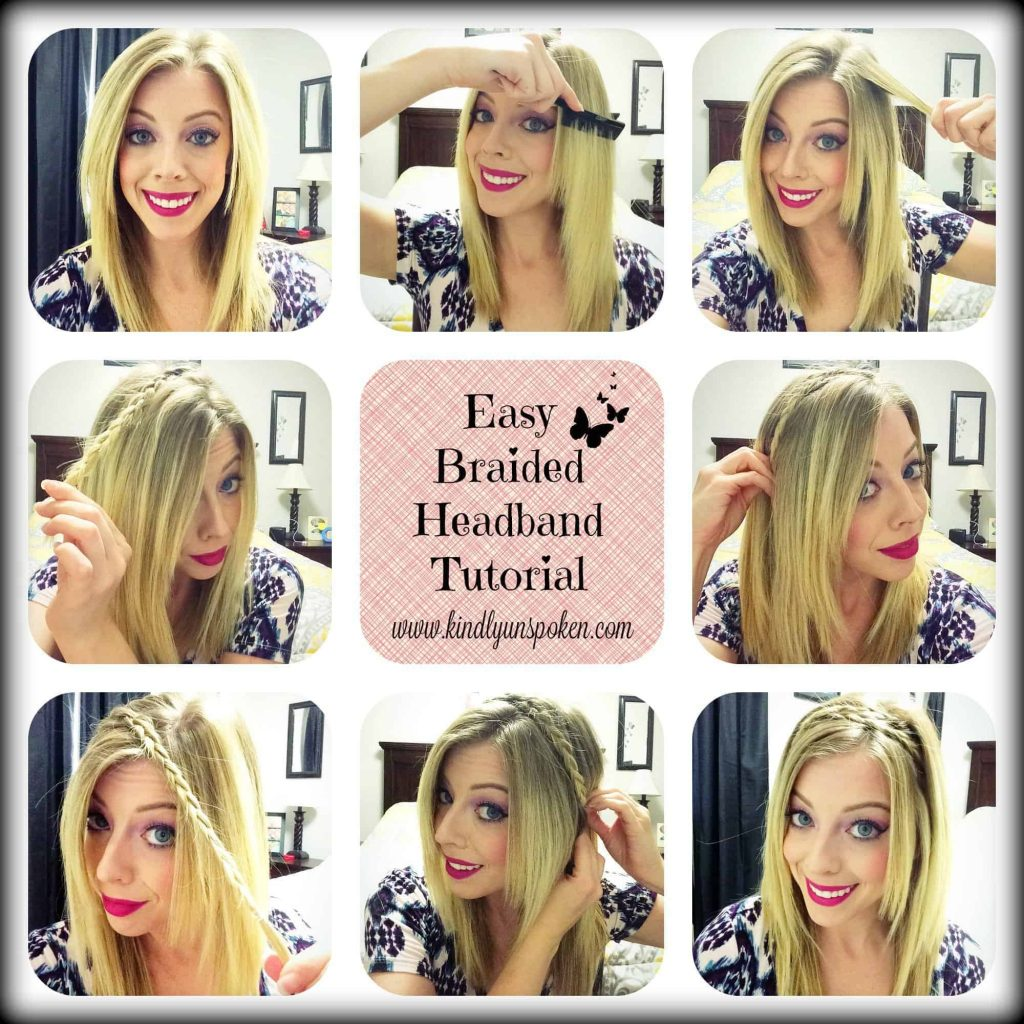 Easy Braided Headband Tutorial-Kindly Unspoken