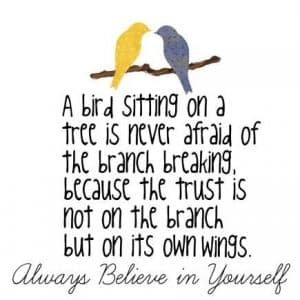 a bird sitting on a tree quote