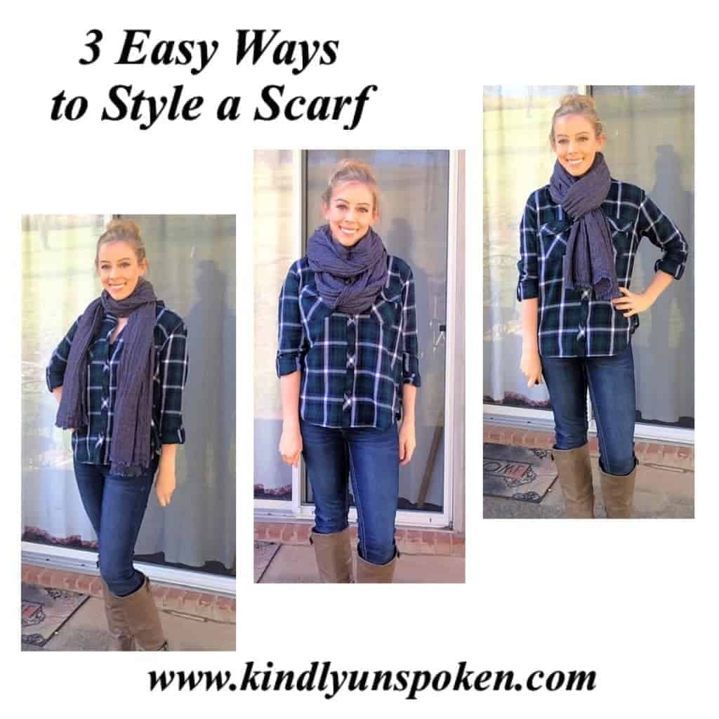 3 Easy Ways to Style a Scarf