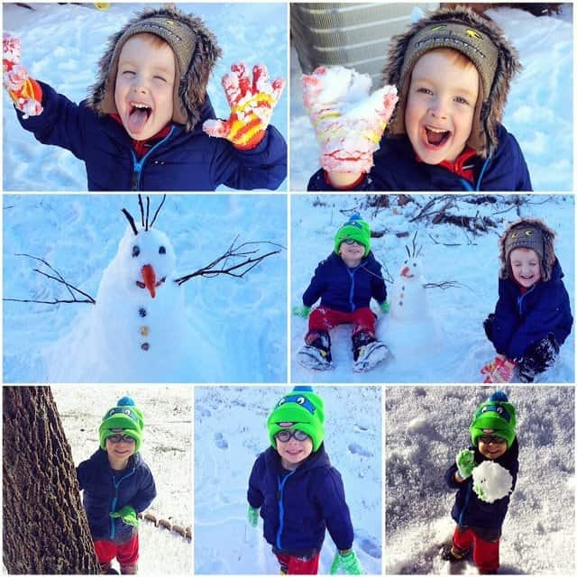 Boys Snow Fun