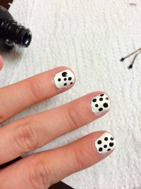 DIY Polka Dot Nails