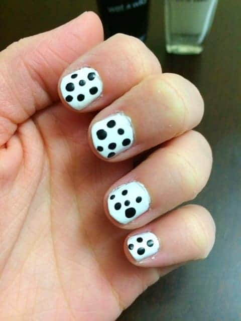 Black and White Polka Dot Nails Tutorial