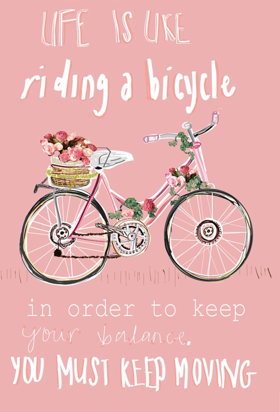Life is Like Riding a Bicycle Quote