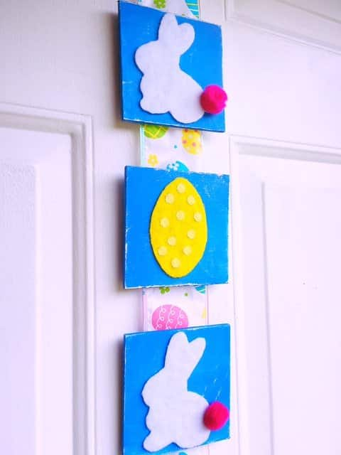 Easter Tile Door Hanger DIY (19)