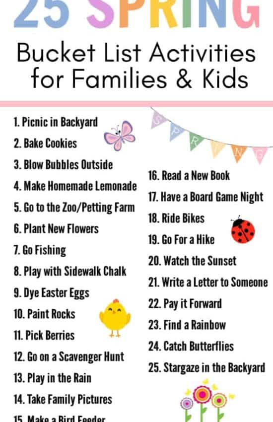 Ultimate Spring Bucket List for Families