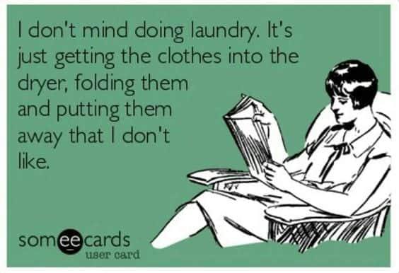 folding laundry humor