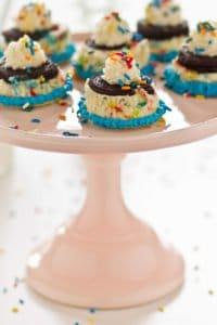 Mini Cake Batter Cheesecakes