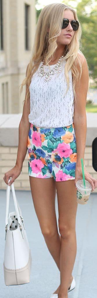 Cute floral shorts.