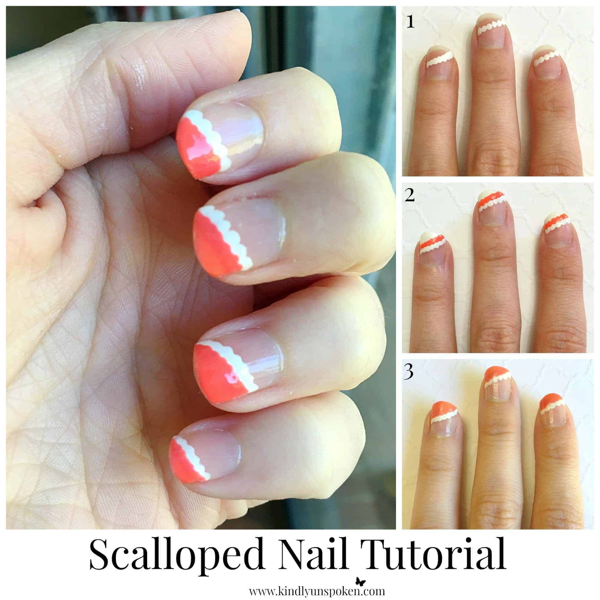 Christmas Nails Tutorial Youtube: Scalloped Nail Tutorial