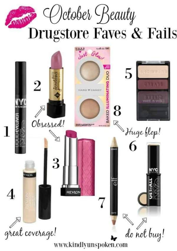 October Drugstore Beauty Favorites and Fails
