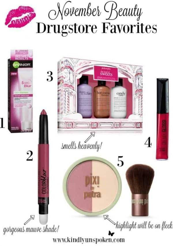 November Drugstore Beauty Favorites