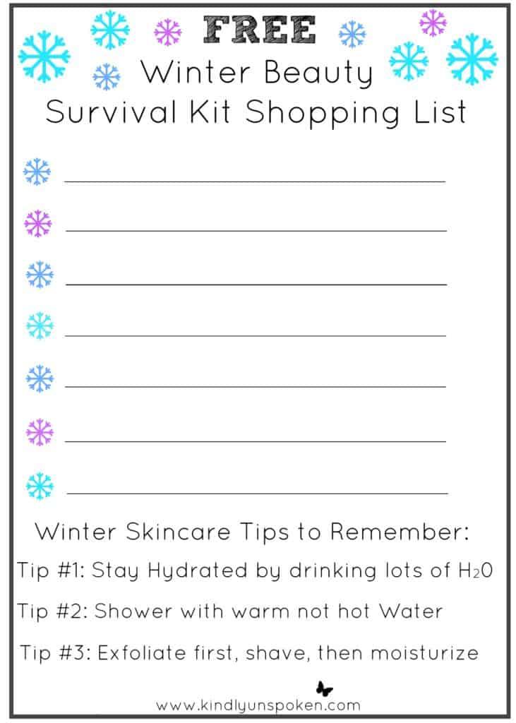 winter-beauty-survival-kit-shopping-list-printable