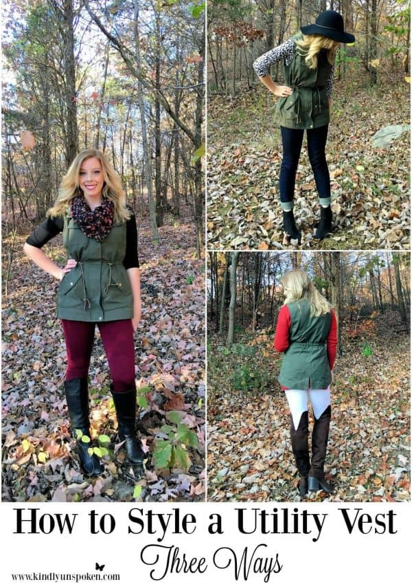 3 Ways to Style a Utility Vest for Fall