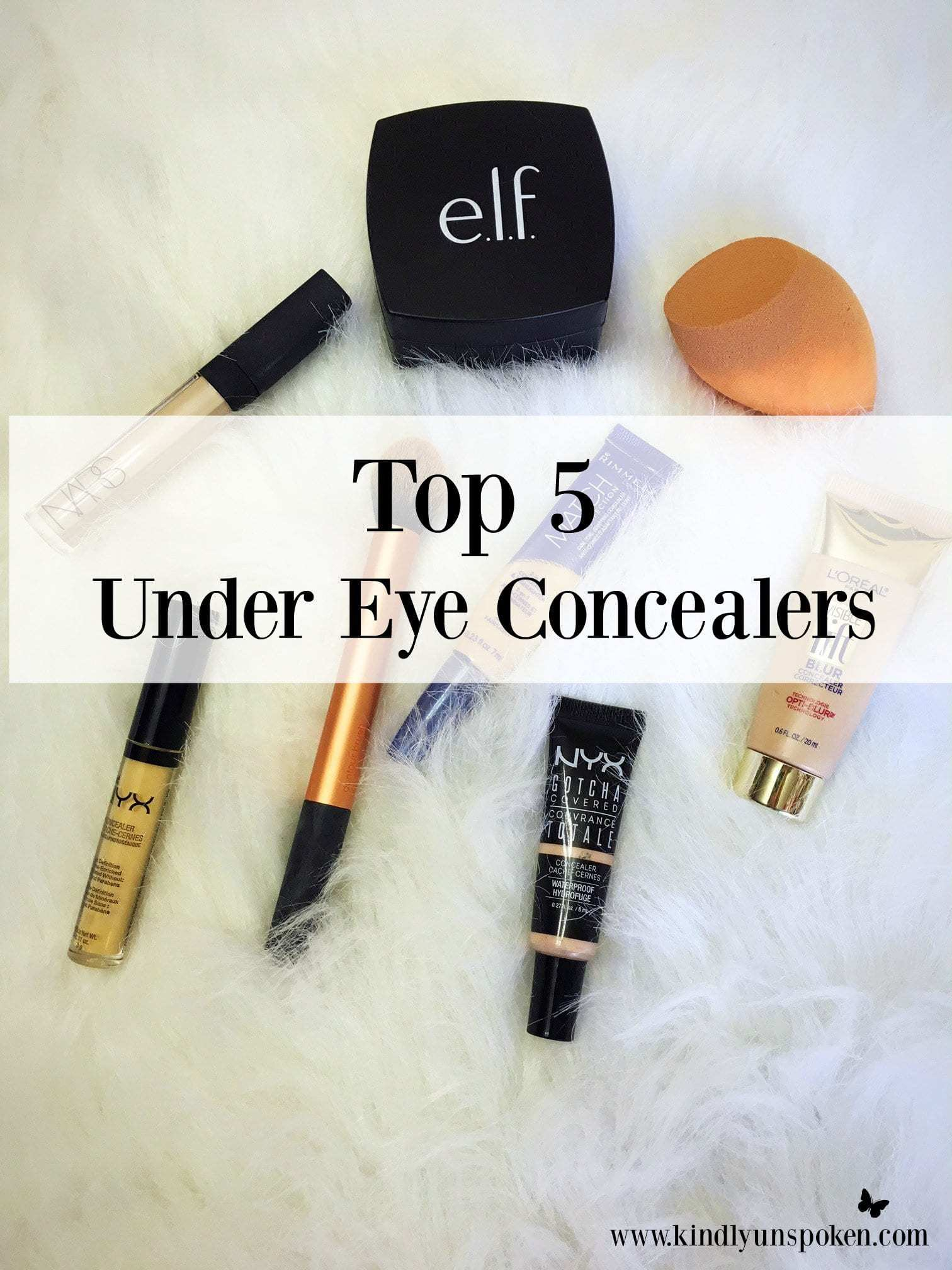Top 5 Under Eye Concealers for Dark Circles- Struggle with dark circles? Check out my top 5 under eye concealers for covering up pesky dark circles for good!