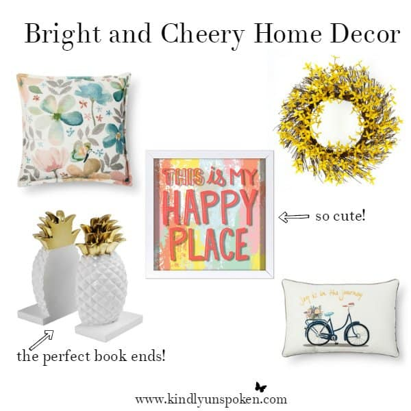 Bright and Cheery Home Decor- Spring Obsessions at Target