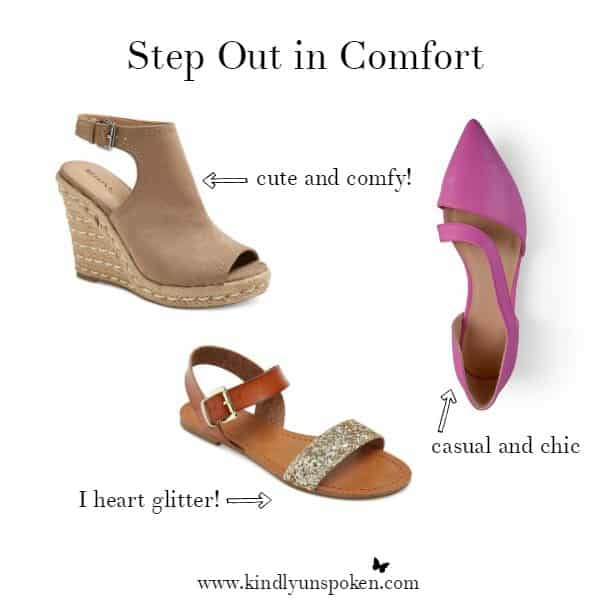 Step Out in Comfort- Spring Obsessions at Target