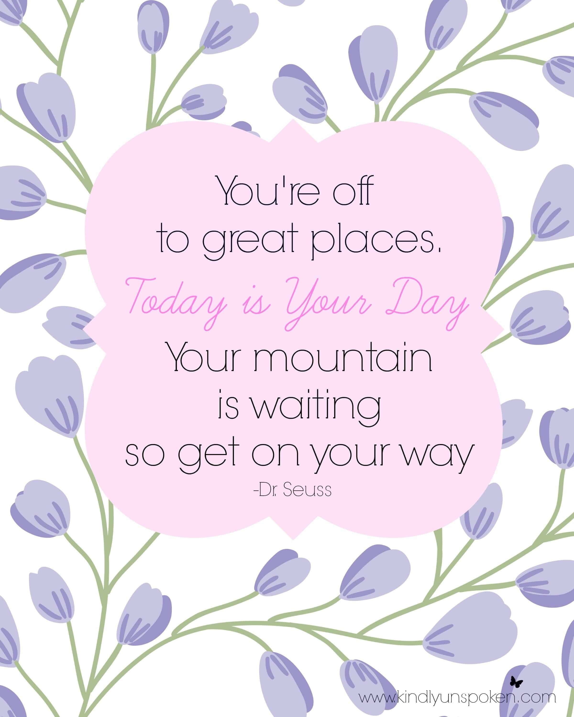 5 Spring Motivational Quotes Free