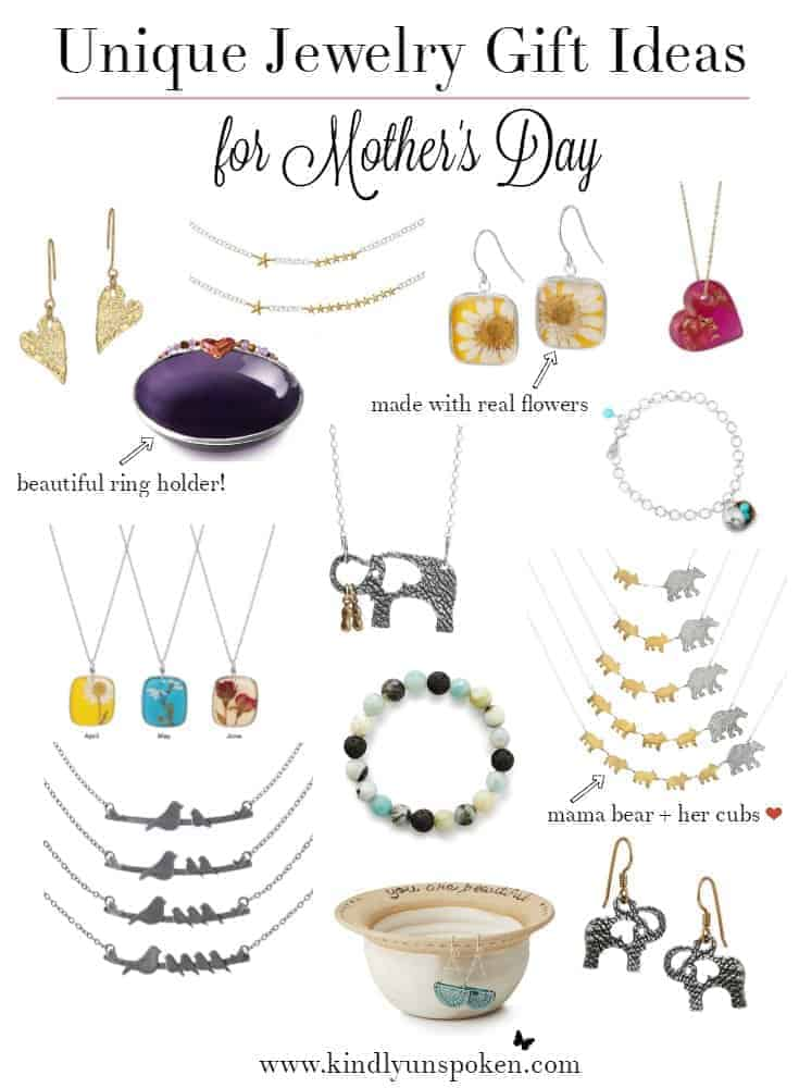 Unique Jewelry Gift Ideas For Mother 39 S Day Kindly Unspoken