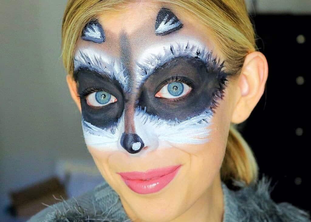 Cute and Easy Raccoon Mask Halloween Makeup Tutorial ... Raccoon Eyes Makeup Crying