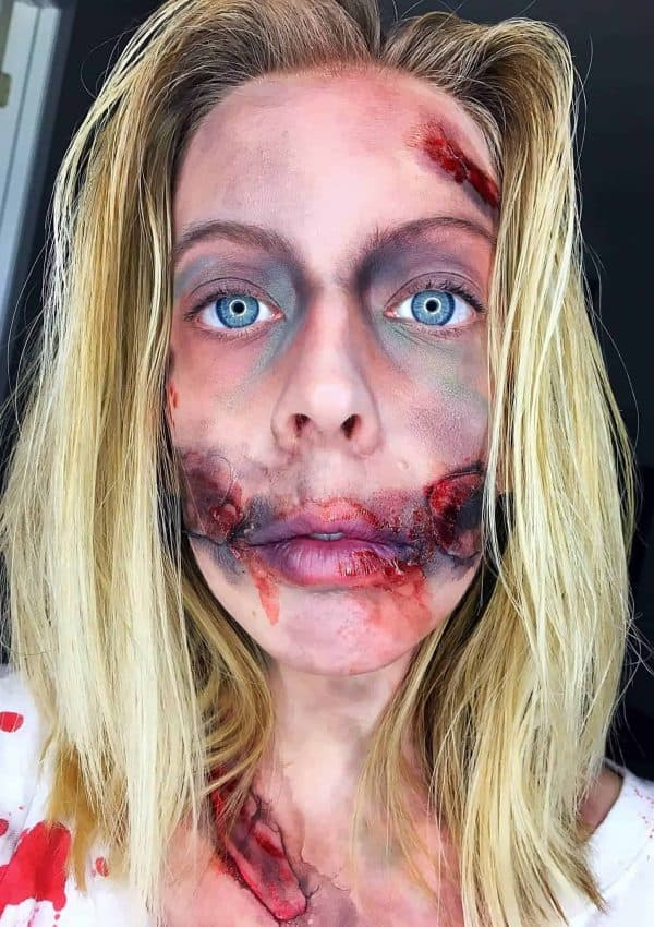 DIY Halloween Zombie Makeup and Costume
