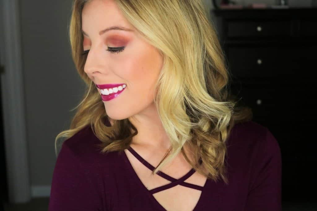 Holiday Glam- Burgundy & Gold Eye Makeup Look