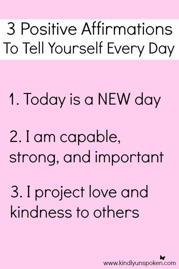 3 Positive Affirmations to Tell Yourself Every Day- Today I'm sharing 3 Positive Affirmations for women that help motivate, promote self-esteem, and encourage positivity and happiness. #ad #BePositivePamprin #PowerPrimper