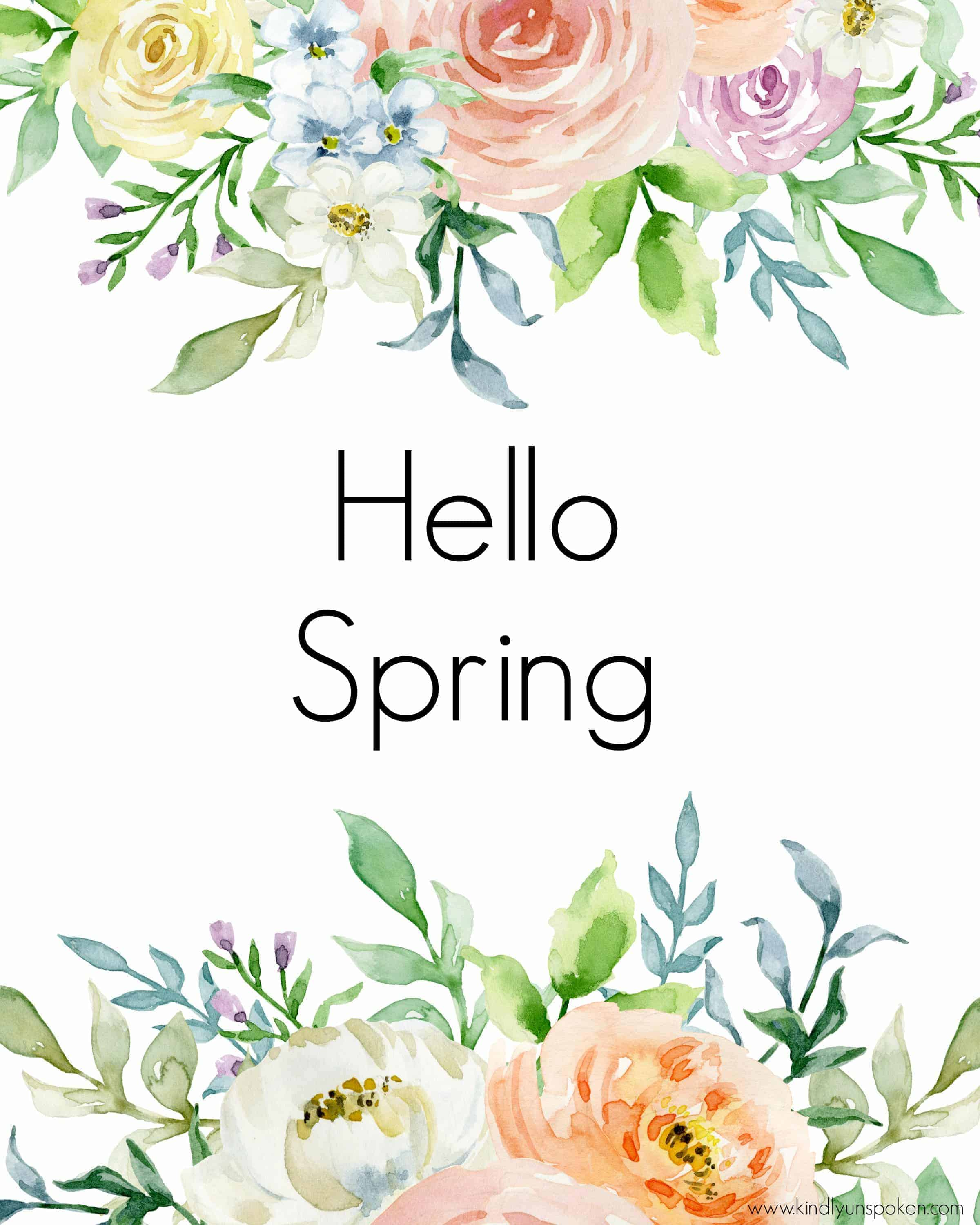 photograph about Spring Printable named 3 Absolutely free Spring Printables in direction of Brighten Up Your Residence - Kindly