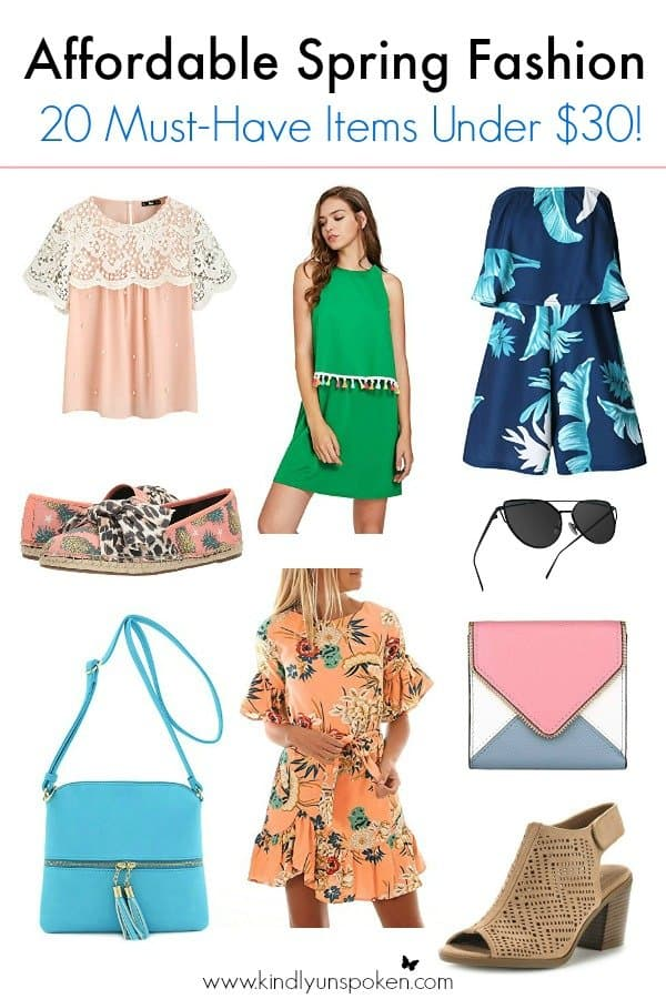 Spring has arrived and it's time to update your 2018 wardrobe with chic dresses, casual tops, and fun purses, shoes, and accessories! Today I've rounded up 20 of the best affordable spring fashion must-haves under $30 on Amazon, with trendy and cute items and casual, everyday essentials that you'll want in your closet.