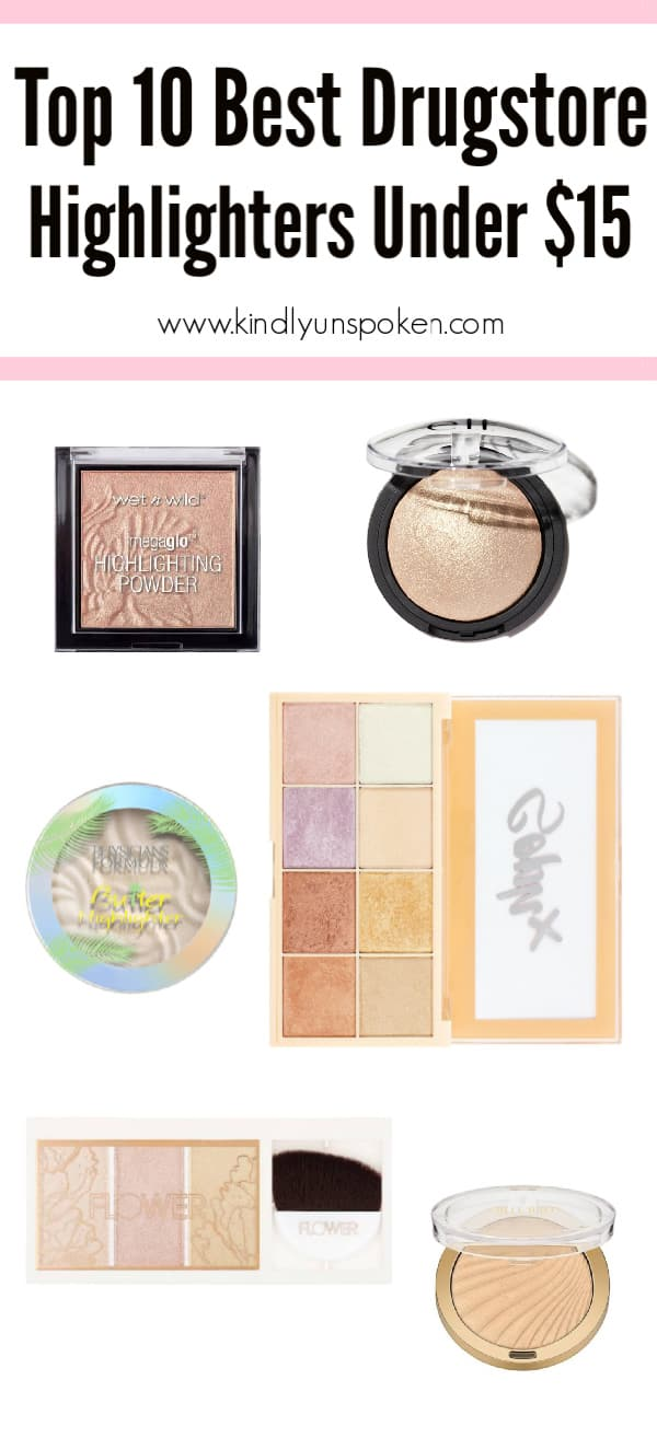 Check out the best drugstore highlighters to achieve the perfect glow! Whether you're looking for a natural or intense glow, these 10 affordable drugstore highlighters are amazing quality, under $15, and total makeup must-haves! #drugstoremakeup #highlighters #makeup
