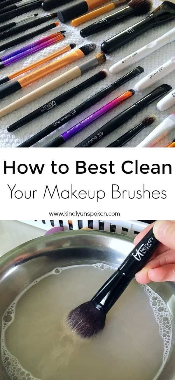 Want to know how to best clean your makeup brushes at home? Today I'm sharing the most simple way to clean your makeup brushes using only gentle shampoo or dish soap and warm water. I'm also sharing how often you should clean your brushes and how to best care for your makeup brushes to make them last longer.#beautytips #makeupbrushes