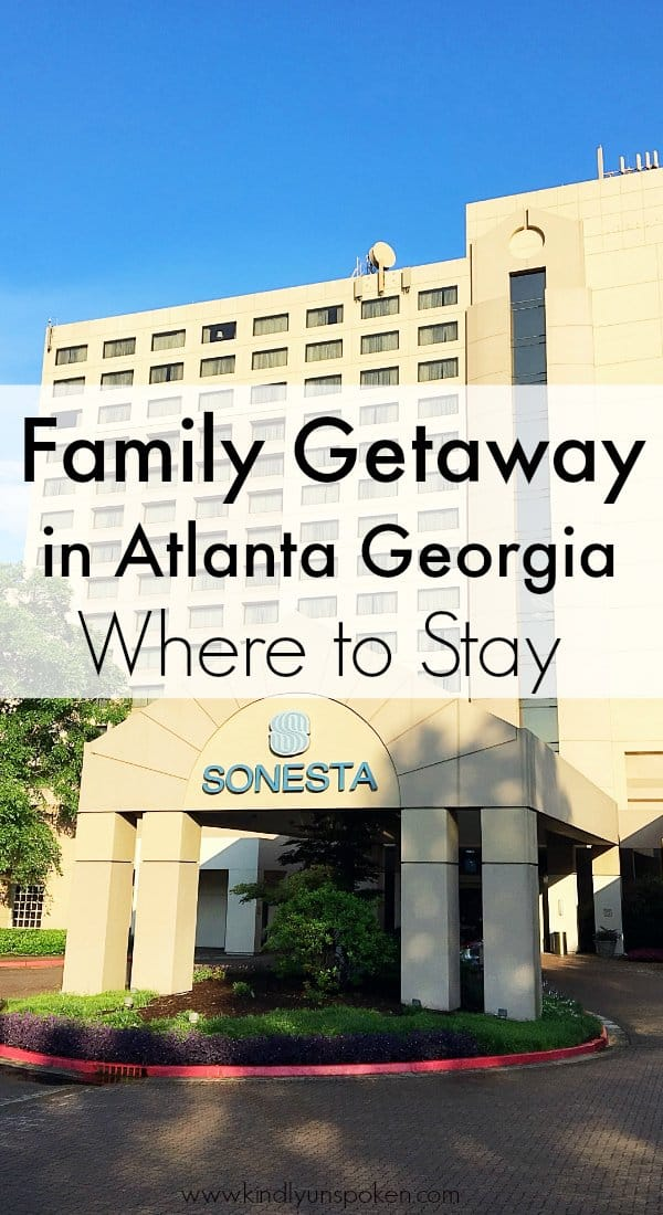 If you're on the hunt for the best family hotel to stay at in Atlanta, Georgia then look no further than the Sonesta Gwinnett Place Atlanta. With gorgeous suites, an indoor/outdoor pool, and two on-site restaurants- it's the perfect hotel for a weekend getaway for both couples and families! #atlanta #georgia #hotel #sonestagwinnettplace #familyhotel