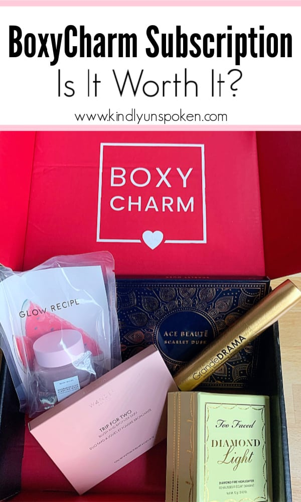 Curious about a BoxyCharm subscription? Wondering if the monthly BoxyCharm subscription is worth it? Check out my honest Boxycharm review with all the makeup, skincare, and beauty products in my most recent box, plus everything to know about the Boxycharm beauty subscription box. #boxycharm #subscriptionbox #makeupreview #beautyreview