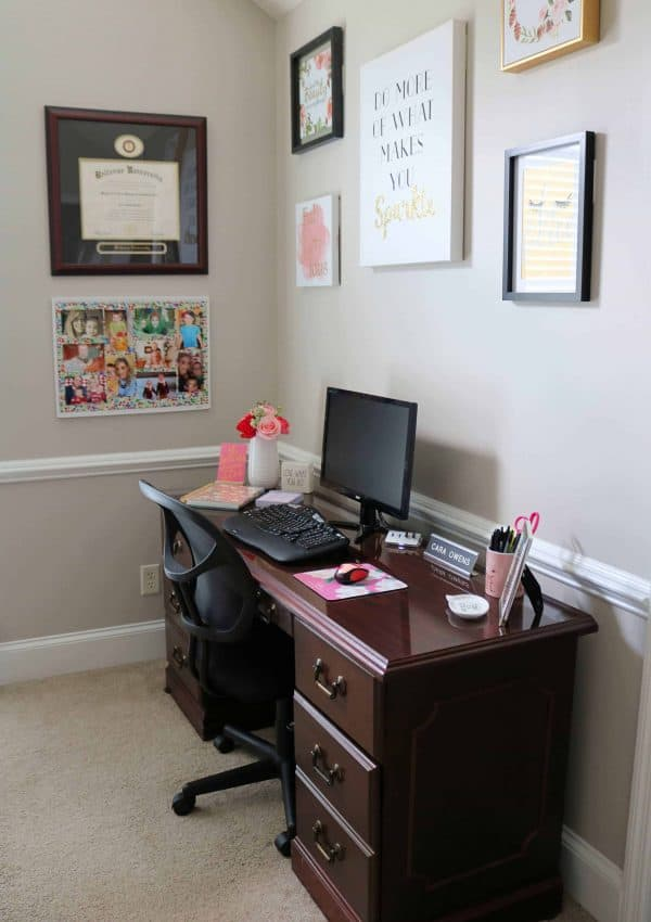 Tips for Decorating a Home Office + My Home Office Reveal