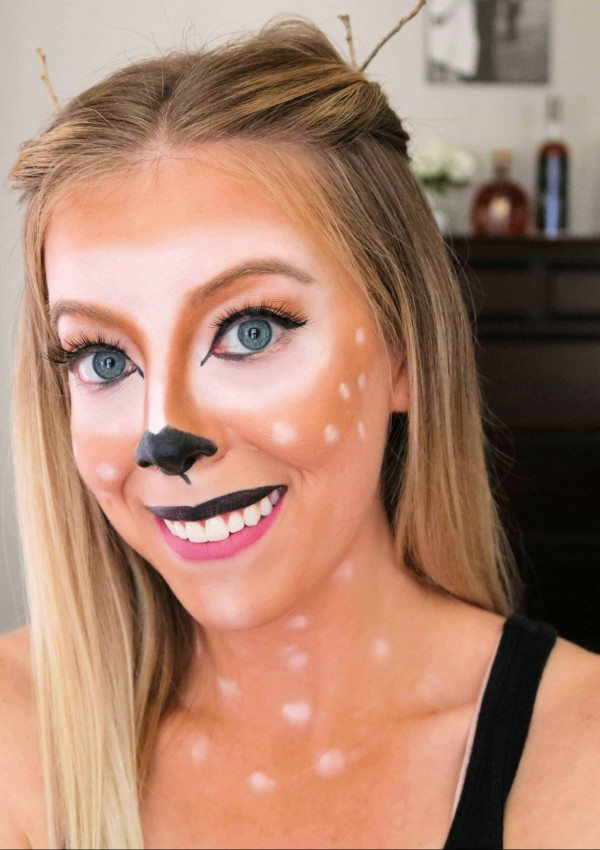 Easy Deer Makeup Halloween Tutorial