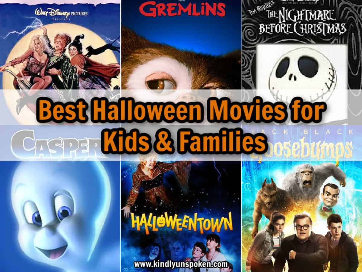 Plan a fun Halloween movie night marathon with your family this October with my list of The Best Halloween Movies for Kids and The Best Halloween Movies for Families! I'm sharing a list of must-watch, non-scary, and classic Halloween movies, with a free printable 31 days of Halloween movies calendar! #halloween #halloweenmovies #halloweenideas