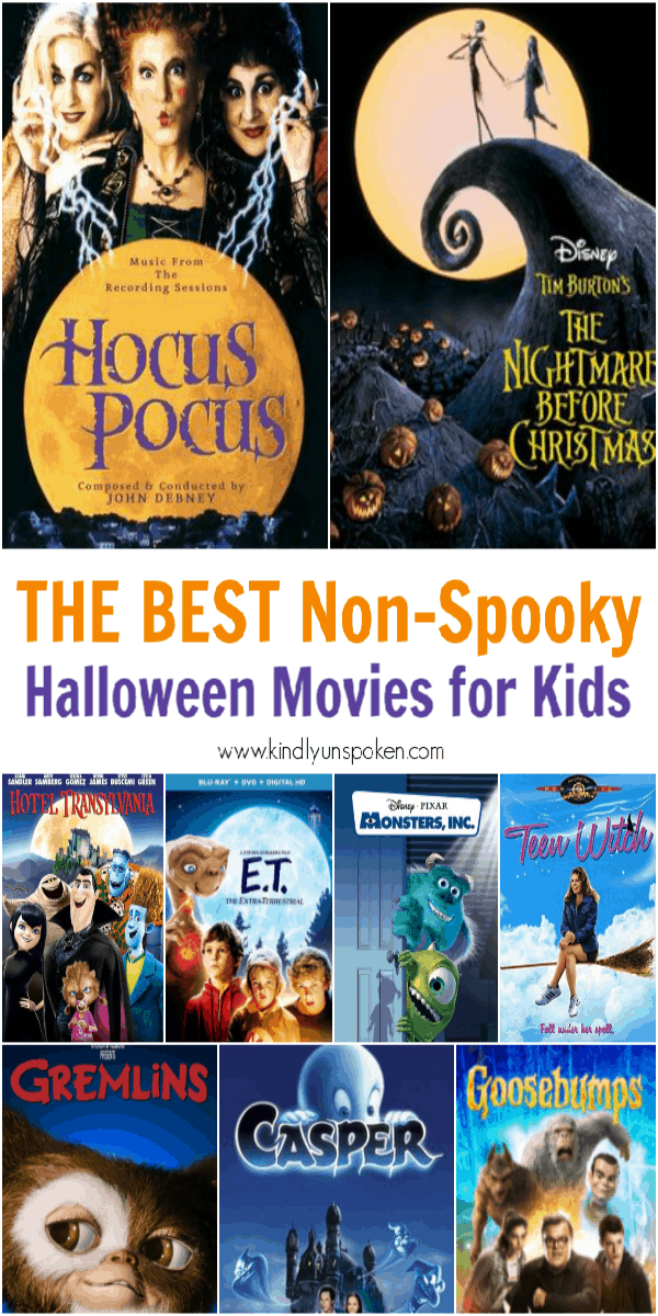 Grab some popcorn and check out my list of the 30 Best Halloween Movies for Kids and Families to watch this fall! These non-spooky halloween movies are perfect for both kids and adults. #halloweenmovies #halloween