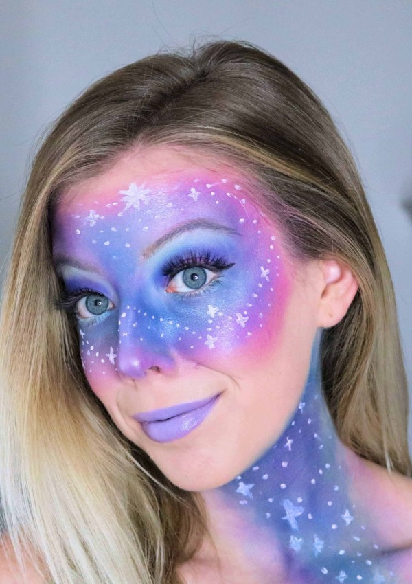 Easy Galaxy Makeup Tutorial for Halloween
