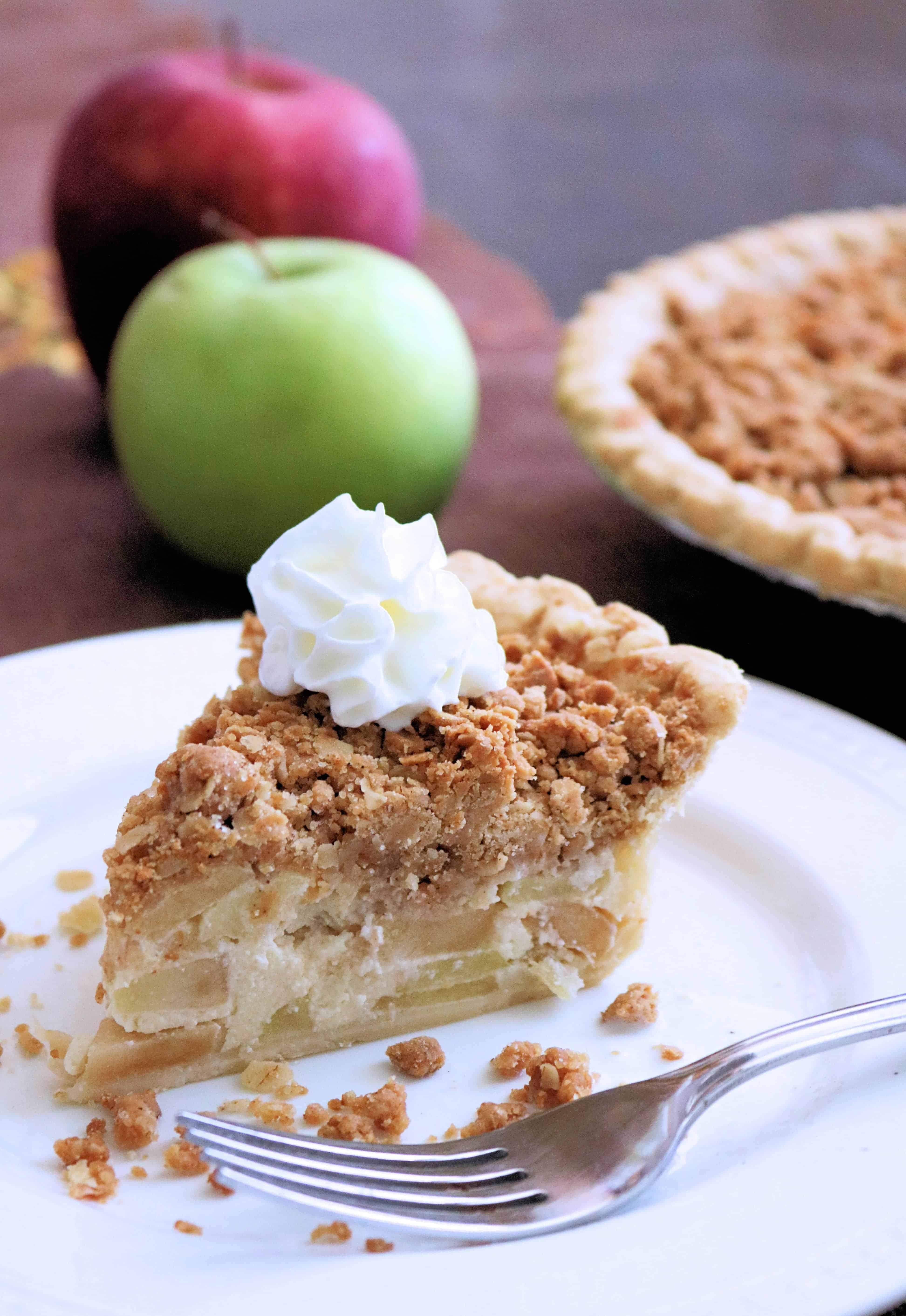 Peanut Butter Apple Crumb Pie - Love apple desserts? Get your fall baking on with these 15 delicious and easy apple dessert recipes including the best apple pies, cakes, apple crisp, and more! #applerecipes #appledesserts #baking #fallbaking