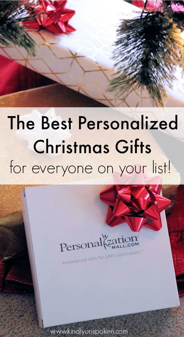 Personalized Christmas gifts are great for everyone on your list! Check out my roundup of personalized Christmas gifts for him, her, grandparents, and kids!#sponsored #personalizationmall