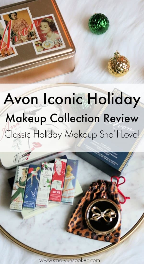 Check out my review of the beautiful, vintage Avon Iconic Once Upon A Holiday Makeup Collection. These fun, classic-inspired makeup items would make the perfect Christmas gift for any makeup lover!