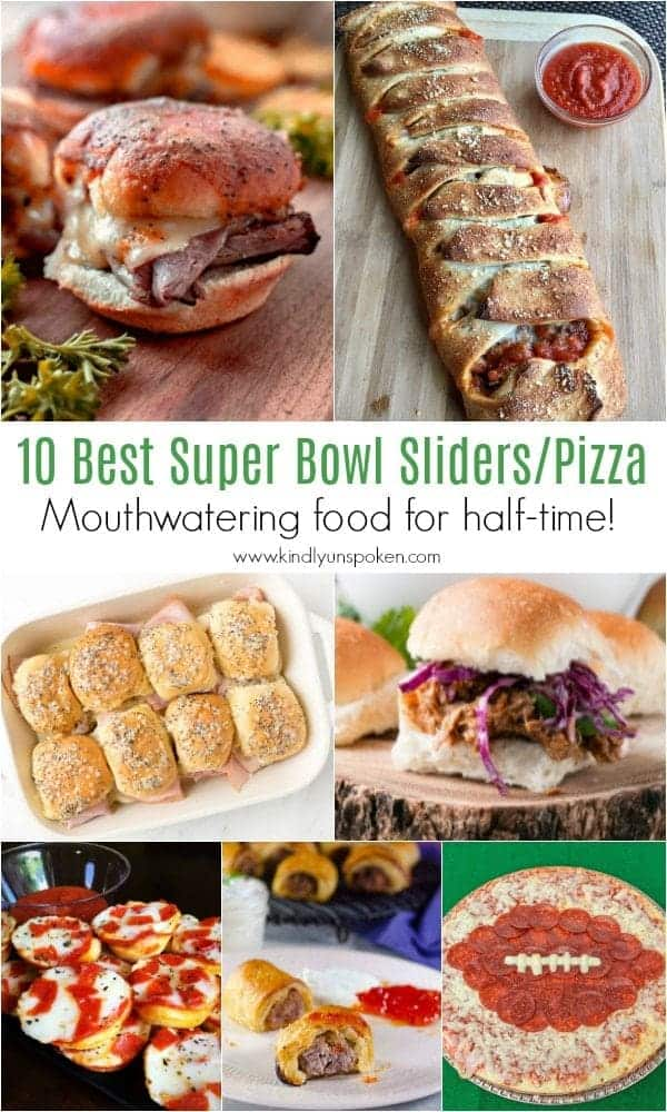 10 Best Super Bowl Sliders/Pizza | Need game day recipes for your Super Bowl party? Check out 65 of the best Super Bowl recipes that will feed a crowd including easy and delicious super bowl appetizers, wings, dips, sliders, snacks, desserts, and more! #superbowl #partyfood #superbowlfood #gamedayrecipes #appetizers #snacks
