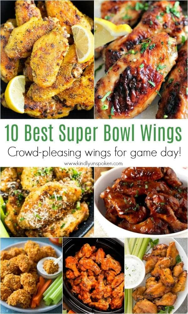 10 Best Super Bowl Wings | Need game day recipes for your Super Bowl party? Check out 65 of the best Super Bowl recipes that will feed a crowd including easy and delicious super bowl appetizers, wings, dips, sliders, snacks, desserts, and more! #superbowl #partyfood #superbowlfood #gamedayrecipes #appetizers #snacks