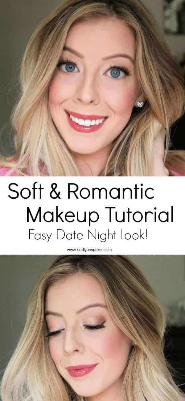 Look and feel gorgeous for your next date night or special occasion with this beautiful soft and romantic makeup tutorial that uses affordable drugstore makeup products! Get the look in less than 10 minutes! #ad #physiciansformula #drugstoremakeup #makeuptutorial #softmakeup #weddingmakeup