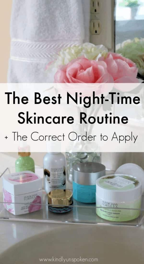 Ready to switch up your skincare routine this year? Check out my post on the best night skincare routine with affordable products you need in your collection. I'm also sharing the best order to apply all your skincare products! #ad #physiciansformula #skincare #skincareroutine