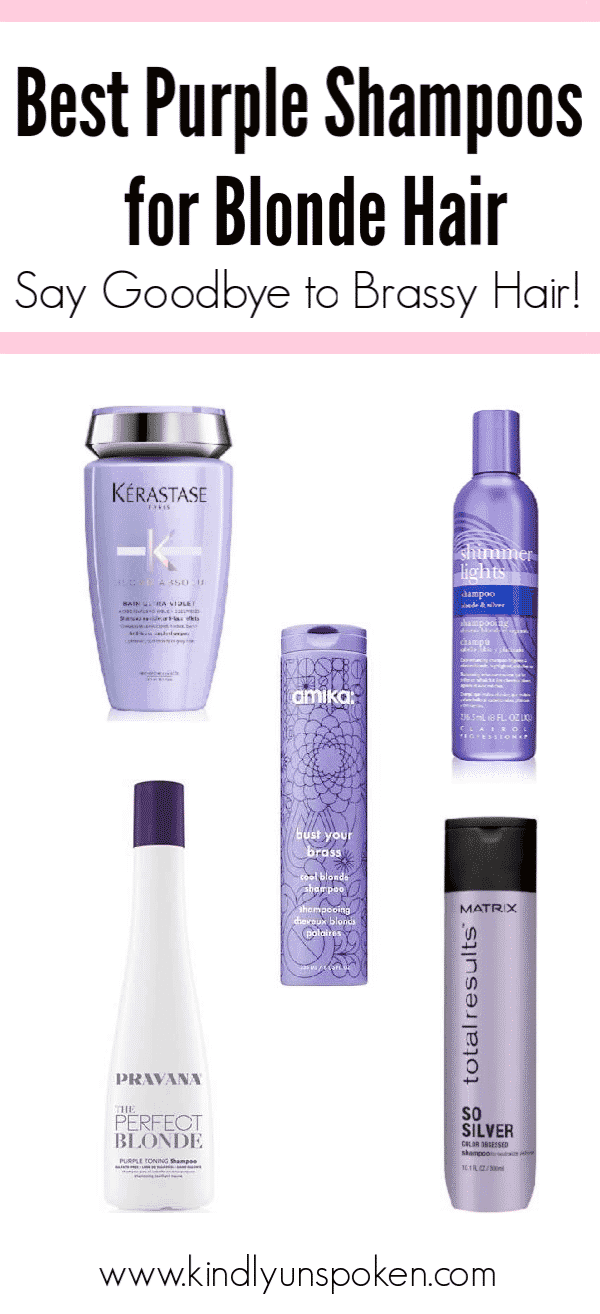 Keep your blonde hair looking beautiful and vibrant with these best purple shampoos for blondes! Plus - get my hair tips on how to apply and use purple shampoo for the best results.  #purpleshampoo #haircare #shampoo #blondehair