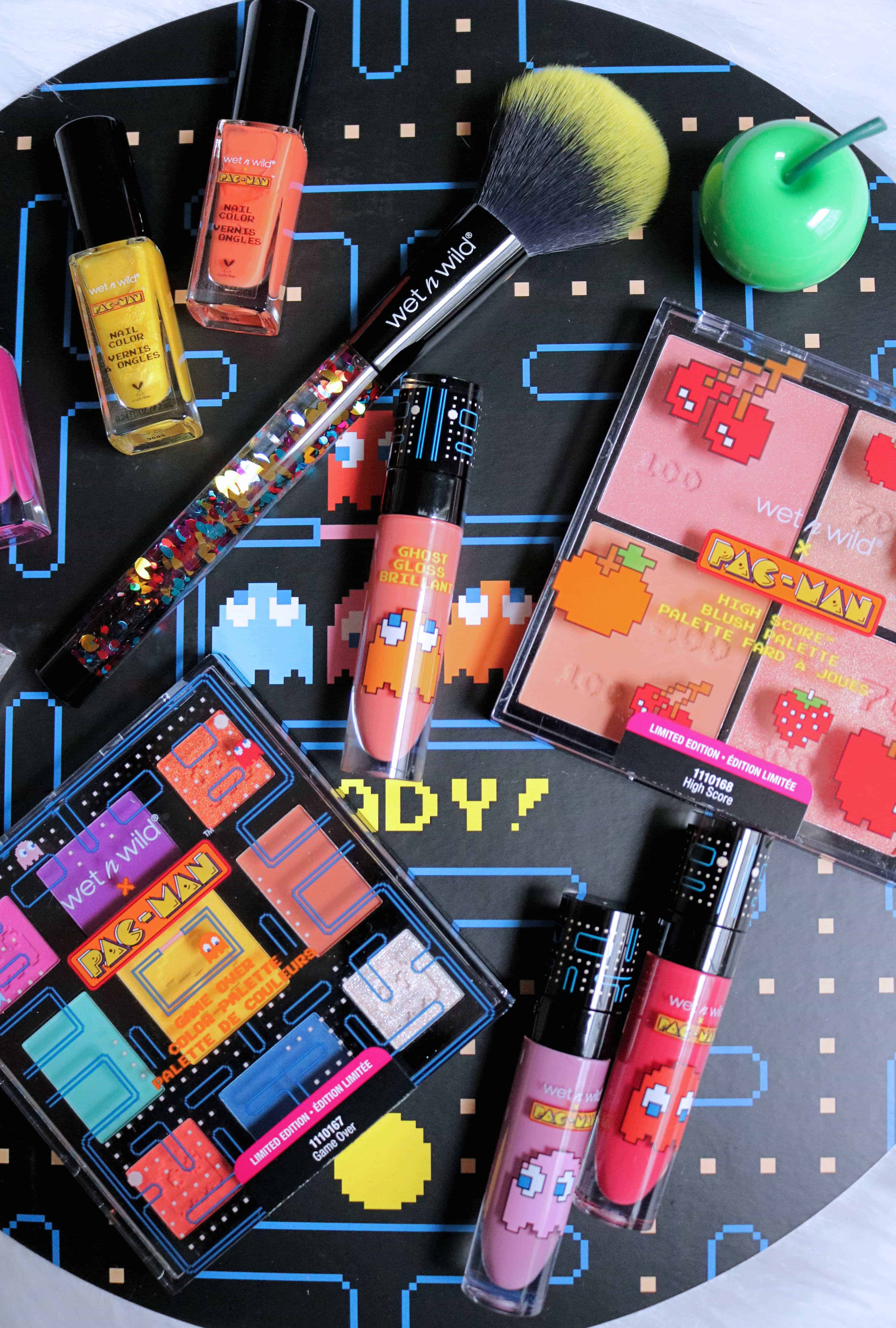 Blast to the past with the new limited edition wet n wild Pac-Man Collection! Check out my full review and swatches of the entire makeup collection to see if it's worth it! #summermakeup #wetnwild #drugstoremakeup #pacman