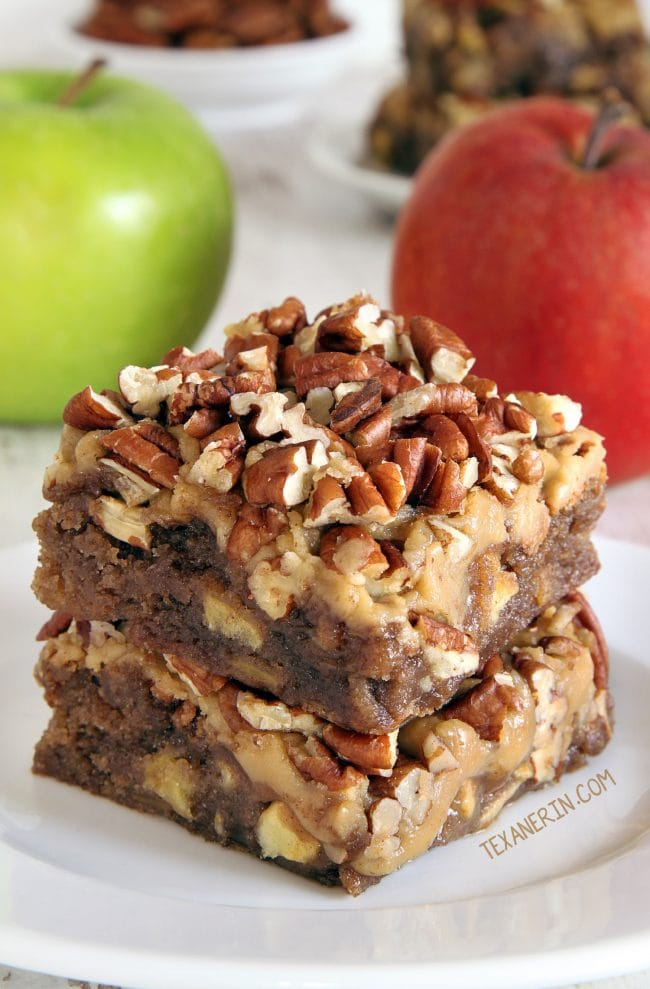 Apple Brownies - Love apple desserts? Get your fall baking on with these 15 delicious and easy apple dessert recipes including the best apple pies, cakes, apple crisp, and more! #applerecipes #appledesserts #baking #fallbaking