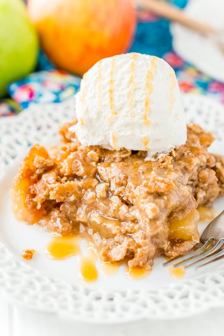 Apple Dump Cake - Love apple desserts? Get your fall baking on with these 15 delicious and easy apple dessert recipes including the best apple pies, cakes, apple crisp, and more! #applerecipes #appledesserts #baking #fallbaking