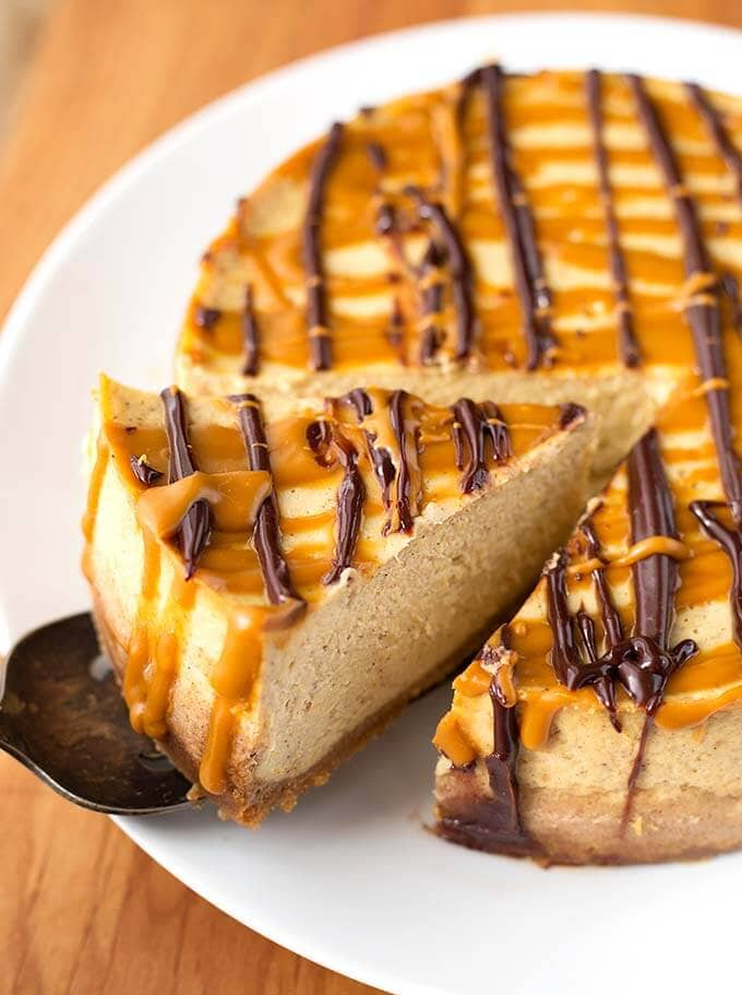 Instant Pot Pumpkin Cheesecake | Check out these 15 Easy Pumpkin Desserts for Fall and Thanksgiving! From quick and easy desserts with simple ingredients like pumpkin pie and pumpkin cream cheese bread, to pumpkin cookies, cheesecake, and cake, you'll love this list of the best pumpkin desserts ever!  #pumpkindesserts #pumpkinrecipes #falldesserts #thanksgiving