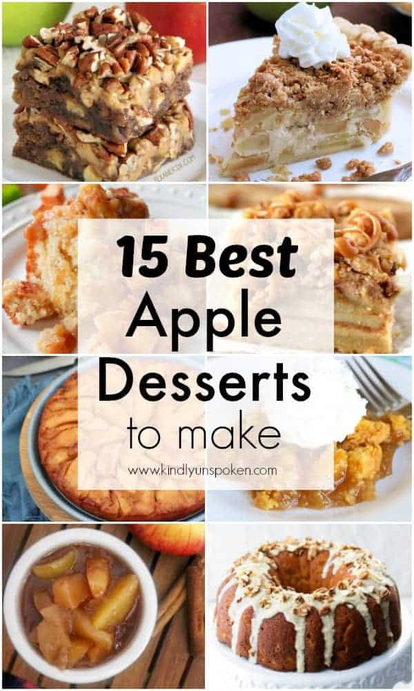 Love apple desserts? Get your fall baking on with these 15 delicious and easy apple dessert recipes including the best apple pies, cakes, apple crisp, and more! #applerecipes #appledesserts #baking #fallbaking